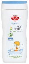 """Течна добавка за вана с био пшенични трици и био маслиново масло - От серията """"Topfer Babycare"""" -"""