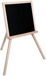 Черна дъска за рисуване и писане с поставка за тебешири