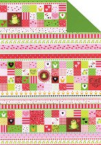 Зелено-червен картон за скрапбукинг - Love - Формат А4