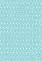 Картон за скрапбукинг - Светло син на точки 04