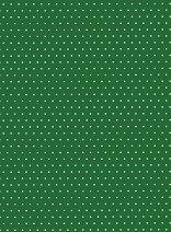 Картон за скрапбукинг - Тъмно зелен на точки 07