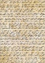 Паус с мотиви - Стар ръкопис - Формат А4