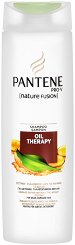 "Pаntene Oil Therapy Shampoo - Подхранващ шампоан за слаба и увредена коса от серията ""Oil Therapy"" -"