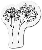 Силиконов печат - Диви цветя - Размер 5 x 6 cm - печат