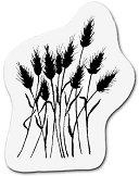 Силиконов печат - Цъфнала трева - Размер 5 x 6 cm - продукт
