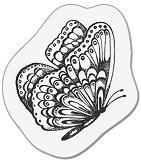 Силиконови печати - Пеперуда - Размер 5 x 6 cm - печат