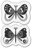 Силиконов печат - Пеперуди - Размер 5 x 6 cm -