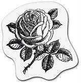 Силиконов печат - Малка роза - Размер 5 x 6 cm -