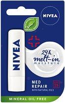 Nivea Med Repair Caring Lip Balm - SPF 15 - Балсам за устни с витамин E - балсам