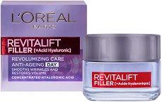 """L`Oreal Revitalift Filler HA Anti-Age Day Cream - Дневен крем против стареене с хиалуронова киселина от серията """"Revitalift Filler HA"""" - крем"""