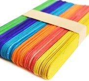 Цветни декоративни дървени пръчици - Комплект от 50 броя