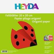 Едноцветни хартии за оригами - Комплект от 100 листа с размер 20  x 20 cm