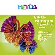 Хартии за оригами - Точки - Комплект от 66 листа с размер 15 x 15 cm
