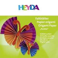 Хартии за оригами - Точки - Комплект от 66 листа с размер 20 x 20 cm