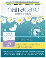 Natracare Ultra Pads Long - Дамски превръзки с крилца в опаковка от 10 броя - крем