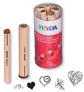 Гумени печати - Сърца - Комплект от 5 броя - продукт
