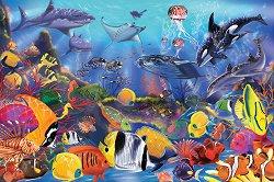 Подводен свят - Детски пъзел за под с големи части - пъзел