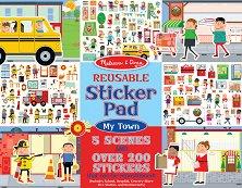 Моят град - Блокче с над 200 стикера за многократна употреба - играчка