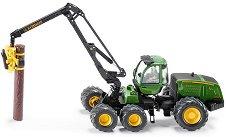 """Комбайн с кран - John Deere 1470E - Метална играчка от серията """"Farmer: Forestry"""" -"""