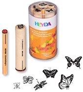 Гумени печати - Пеперуди - Комплект от 6 броя - пънч