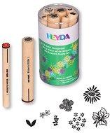 Гумени печати - Цветя и листа - Комплект от 7 броя - продукт