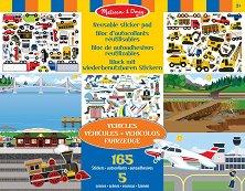 Превозните средства - Блокче с над 165 стикера за многократна употреба - играчка