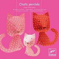 Котки - Три фигури от хартия - детски аксесоар
