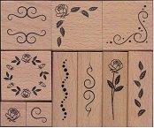 Гумени печати - Орнаменти - Комплект от 10 броя - продукт