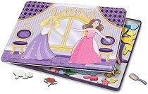 Облечи принцесите за бала - Детски комплект с магнити -