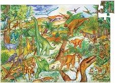 Динозаври - Образователен пъзел с книжка - пъзел