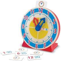 Научи часовника - Детска играчка от дърво с подвижни стрелки -
