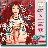 Оцветявай с брокат - Злато и коприна - Творчески комплект за рисуване - творчески комплект