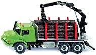 """Камион за транспортиране на дърва - Mercedes-Benz Zetros - Метална играчка от серията """"Super: Transporters & Loaders"""" - играчка"""