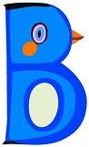 Буква - B - Дървена играчка - играчка