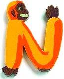 Буква - N - Дървена играчка - играчка