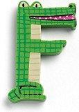 Буква - F - Дървена играчка - творчески комплект