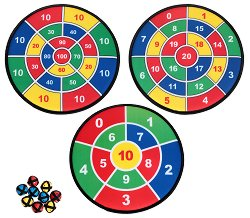 Мек дартс с топчета - Три детски игри - играчка
