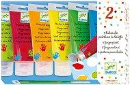 Бои за рисуване с пръсти - Комплект от 6 цвята