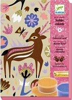 Оцветявай с цветен пясък - Животни - творчески комплект