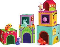 Къщички за животни - Комплект от 12 части - играчка