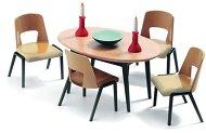 Мебели за всекидневна - Дървено обзавеждане за къща за кукли - фигура
