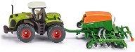 """Трактор с редосеялка - Claas Xerion - Метална играчка от серията """"Siku: Fertilize"""" -"""