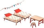 Мебели за детска стая - Дървено обзавеждане за къща за кукли - детски аксесоар