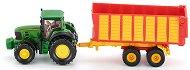 """Трактор с ремарке - John Deere - Метална играчка от серията """"Super: Agriculture"""" -"""