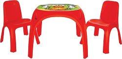 Маса с две столчета - King - Комплект мебели за деца - творчески комплект