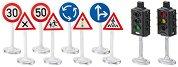 """Светофари и пътни знаци - Комплект аксесоари от серията """"Siku: World"""" - играчка"""