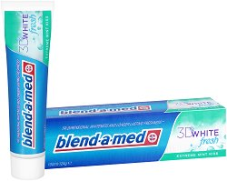 Blend-a-med 3D White Fresh Extreme Mint Kiss - Избелваща и освежаваща паста за зъби -