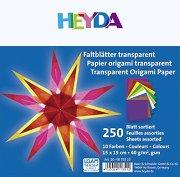 Паус за оригами - Комплект от 250 листа с размер 15 x 15 cm