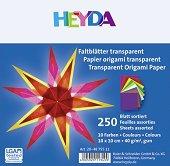 Паус за оригами - Комплект от 250 листа с размер 10 x 10 cm