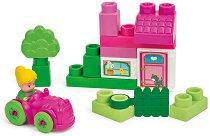 """Къща с градина - Детски конструктор с меки части от серията """"Clemmy - My Soft World"""" -"""